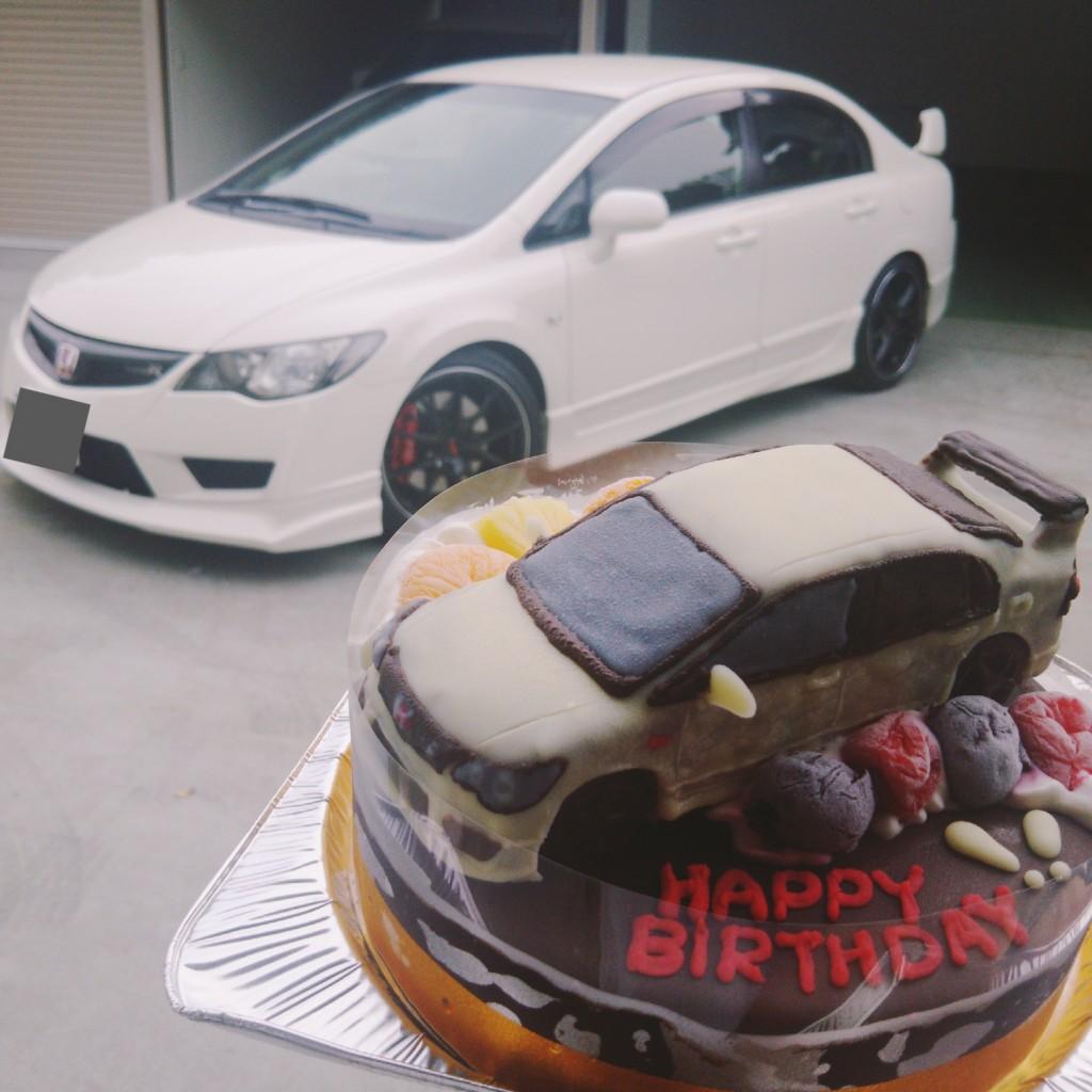 車ケーキ、ホンダシビック