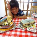 小田急8000形電車ケーキと北陸新幹線とグランクラスのシート立体ケーキ