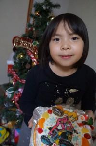 ピーチ姫のクリスマスケーキ