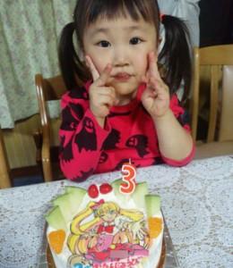 プリキュアケーキ(ご来店のお客様)