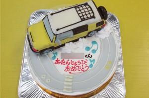 FJクルーザ車立体ケーキ