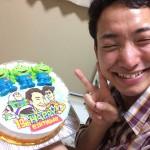 トイストーリー・リトルグリーンメンと似顔絵のケーキ
