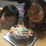 アンパンマンとドキンちゃん、エルサと白雪姫のケーキ