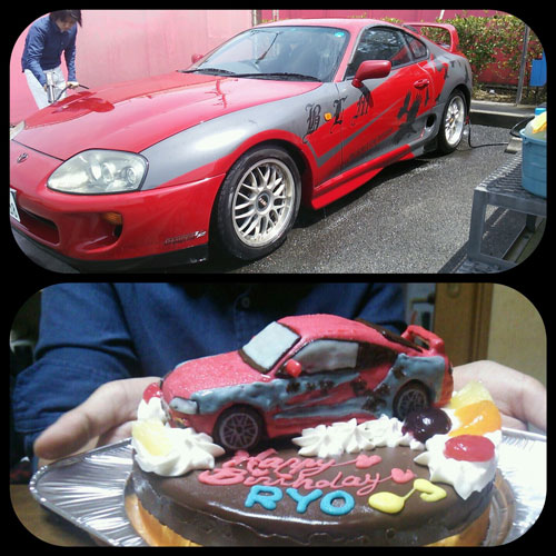 トヨタスープラ車ケーキ