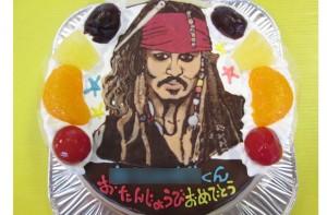 ジョニーデップ似顔絵ケーキ
