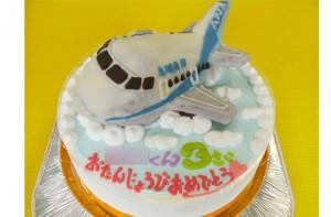 ANA飛行機立体ケーキ