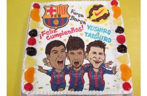 FCバルセロナサッカーケーキ