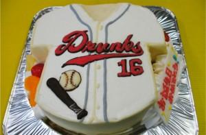 野球のユニフォームケーキ