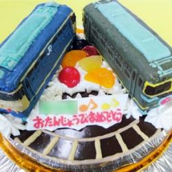 ブルートレイン、トワイライトエキスプレスケーキ