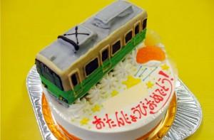 江ノ島電鉄1000形旧塗装電車ケーキ