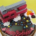 消防はしご車ケーキ
