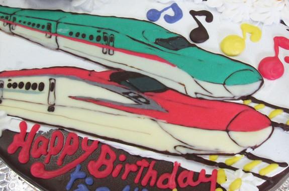 北陸新幹線 こまち はやぶさケーキ オリジナルケーキ おぐに 電車 車 キャラクター 似顔絵ケーキ宅配通販