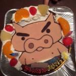 ぶりぶりざえもんケーキ