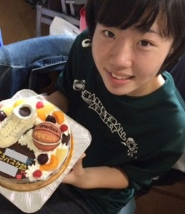 バスケットボールとシューズ立体ケーキ