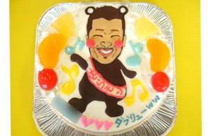 くまモン似顔絵ケーキ