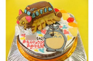 トトロとネコバス立体ケーキ