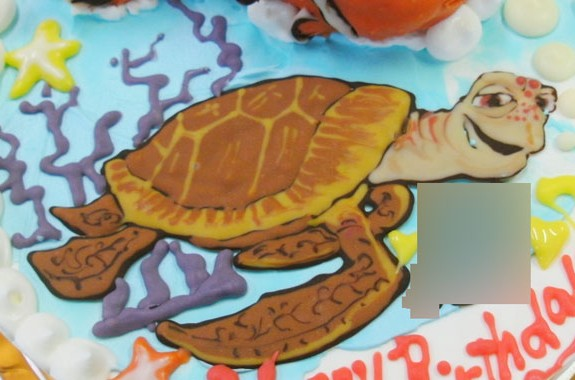 ニモ魚ケーキ オリジナルケーキおぐに電車車キャラクター似顔絵ケーキ宅配通販