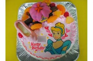 シンデレラ姫ケーキ