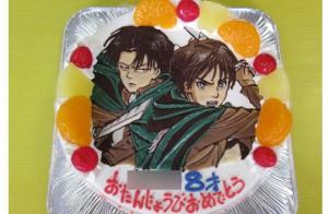 進撃の巨人イラストケーキ