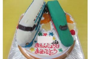 新幹線0系新幹線E5系立体ケーキ
