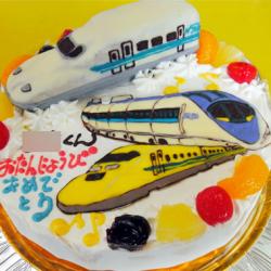 新幹線とドクターイエローケーキ