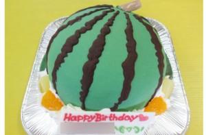 スイカ立体ケーキ