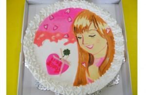 辻友紀子さんイラストケーキ