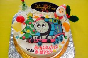 トーマスクリスマスケーキ