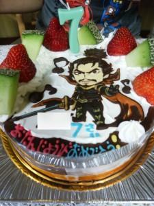 戦国武将織田信長似顔絵ケーキ