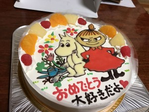 ムーミンケーキ