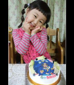 プリキュアのジェラートイラストケーキ(ご来店のお客様)