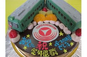 電車2台のせケーキ