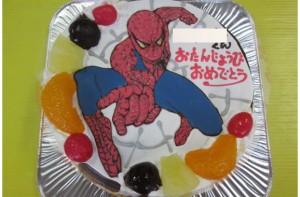 スパイダーマンケーキ