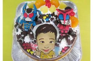 ・仮面ライダーカブト ・仮面ライダーガタック立体ケーキ