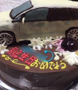 オデッセイ車立体ケーキ