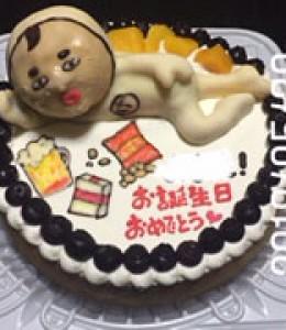 おじさん(?)キャラ立体ケーキ