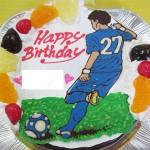 サッカー似顔絵ケーキ