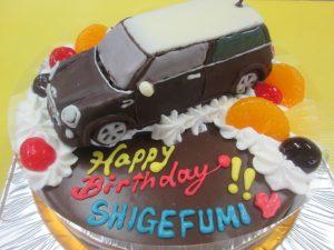 車ケーキ(ミニクーパー)