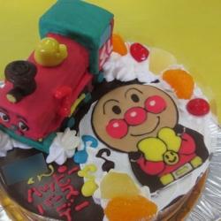 SLマンとアンパンマンケーキ