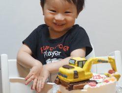 パワーショベル立体ケーキ
