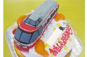 ロマンスカー電車ケーキ