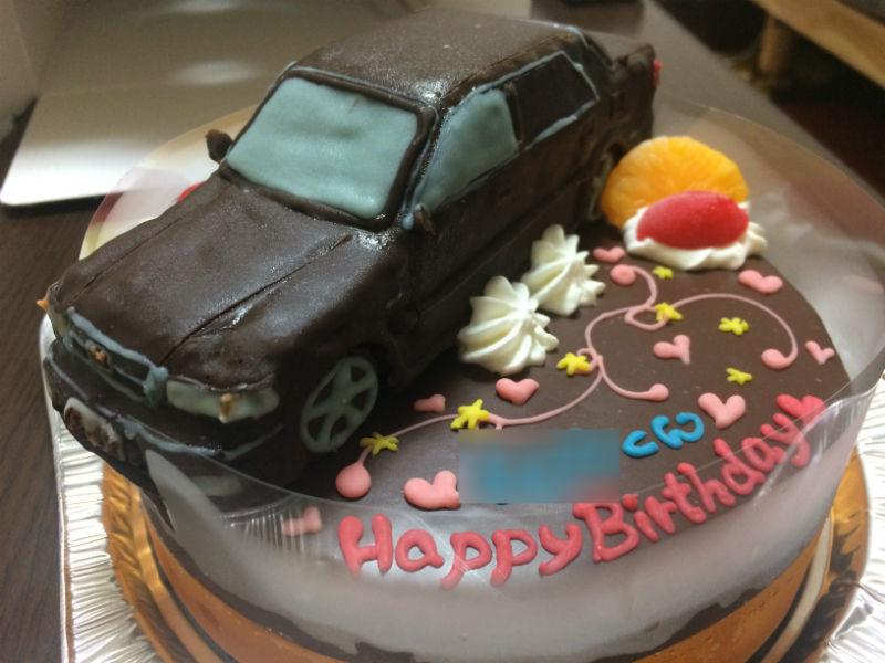 ホンダのインスパイア車立体ケーキ