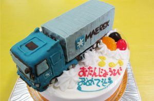 コンテナトラック立体ケーキ