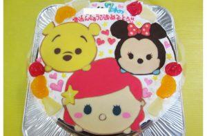ツムツムのアリエル、ミニー、プーさんケーキ