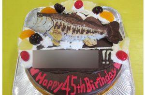 魚立体ケーキ