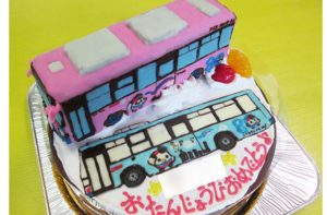 バス立体ケーキ