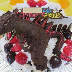 シンゴジラ立体ケーキ