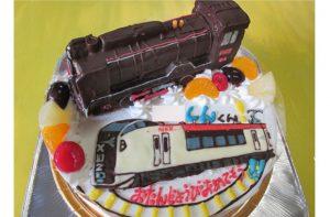 D51蒸気機関車と成田エクスプレスケーキ