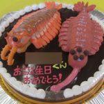 アノマロカリスとオパビニア立体ケーキ