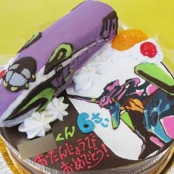エヴァンゲリオン新幹線ケーキ